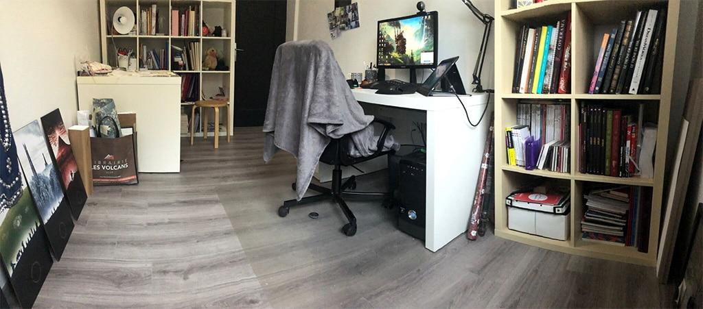 Photo de mon atelier après déménagement